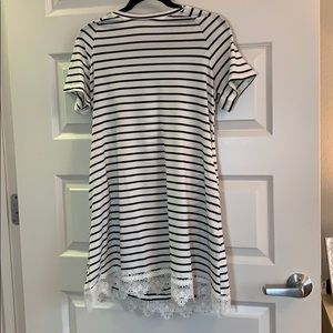 Dresses & Skirts - Black and white striped dress size S